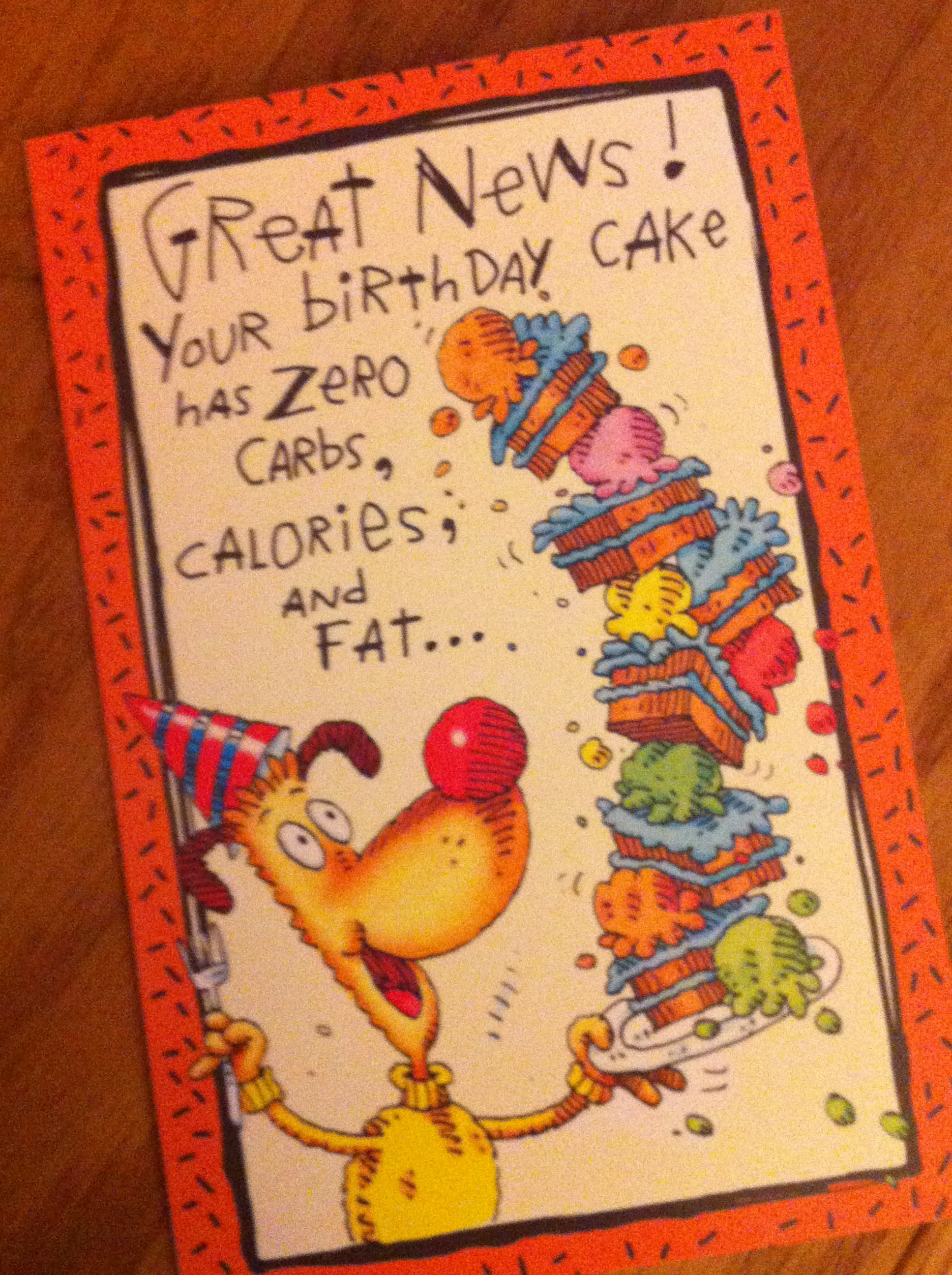 Cake birthday card go fit girl cake birthday card kristyandbryce Image collections