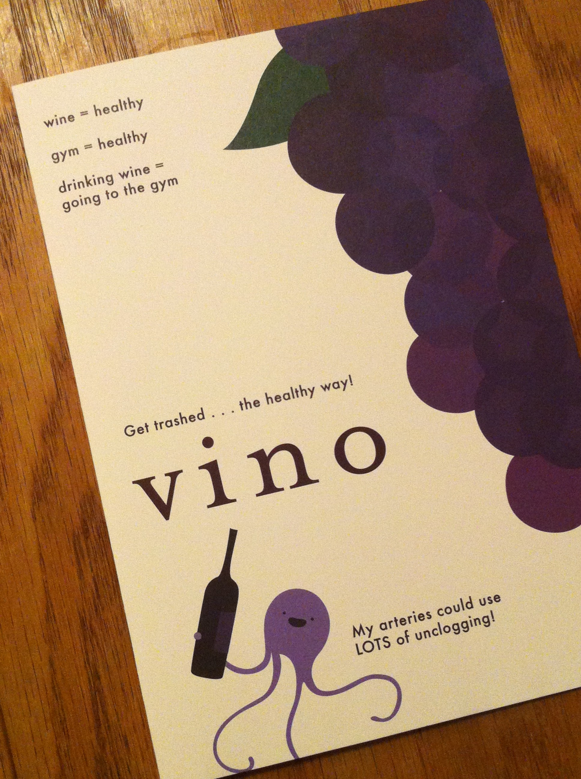 Birthday Card Humor Wine