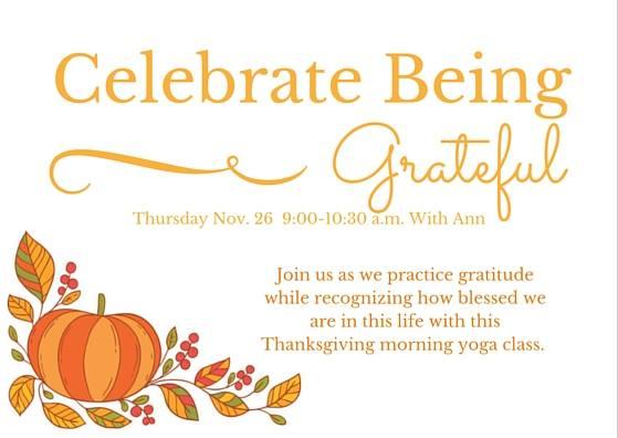 Celebrate Being Grateful